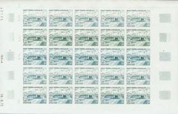 San Pedro Y Miquelón. MNH **Yv 432(25). 1973. 1 F Multicolor, Hoja Completa De Veinticinco Sellos. ENSAYOS DE COLOR Y SI - St.Pedro Y Miquelon