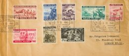 Polonia. Sobre Yv 9/16. 1945. Serie Completa. Dirigida A LONDRES (INGLATERRA). MAGNIFICA. - Polonia