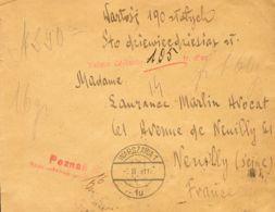 Polonia. Sobre Yv . 1931. Valor Declarado De VARSOVIA A NEVILLY (FRANCIA). Al Dorso Llegada. MAGNIFICA. - Polonia