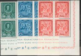 Polonia. MNH **Yv . 1946. Serie Completa, Bloque De Cuatro. (Michel 2004: 445/47) - Polonia