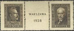 Polonia. MNH **Yv 340/41. 1928. Serie Completa. BONITA. Yvert 2012: 289 Euros. - Polonia