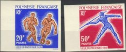 Polinesia. MNH **Yv 22/23. 1963. Serie Completa. SIN DENTAR. MAGNIFICA. (Maury 22/23 60 Euros) - Polynésie Française