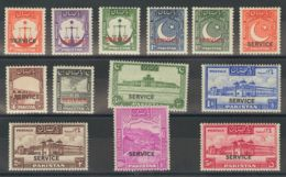 Pakistán, Servicio. MH *Yv 14/26. 1948. Serie Completa. MAGNIFICA. (SGO14/26 130£) Yvert 2008: 90 Euros. - Pakistán