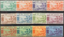 Nuevas Hébridas. MNH **Yv 112/23. 1938. Serie Completa, Leyenda Británica. MAGNIFICA Y RARA. Yvert 2013: 290 Euros. - Nueva Hebrides