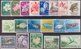 Norfolk. MNH **Yv 26/44. 1960. Serie Completa. MAGNIFICA. Yvert 2008: 150 Euros. - Isla Norfolk