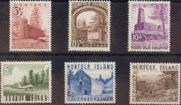 Norfolk. MNH **Yv 13/18. 1954. Serie Completa. MAGNIFICA. Yvert 2008: 90 Euros. - Isla Norfolk