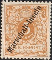 Marshall. (*)Yv 1. 1897. 3 P Bistre Amarillo (Tirada De Jaluit). MAGNIFICO Y RARISIMO. Cert. TH. C. BAKKER. (Mi1Ia 4.500 - Sellos