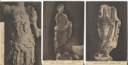 CPA - VAISON LA ROMAINE - MUSEE MUNICIPAL - STATUES Epoque Romaine ... - Edition J.Maussier - Lot De 3 Vues - Vaison La Romaine