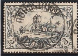 Kiao Tcheu. ºYv 12. 1900. 3 M Violeta. Matasello TSINGTAU / KIAUTSCHOU. MAGNIFICO. (Mi16 240 Euros) - Sellos