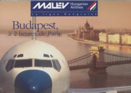 CPM - Cie MALEV HUNGARIAN AIRLINES - Campagne Publicitaire - Edition PUB - Vliegtuigen