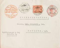 India Holandesa. Sobre Yv 132. 1931. 12 ½ Cts Carmín Sobre Entero Postal Correo Aéreo De BATAVIA A GABLONZ (CHECOSLOVAQU - India Holandeses