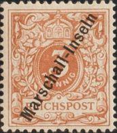 Marshall. MH *Yv 1. 1897. 3 P Castaño Amarillo (Tirada De Jaluit). MAGNIFICO Y RARISIMO. Cert. RONALD F. STEVER. (Mi1Ia - Sellos