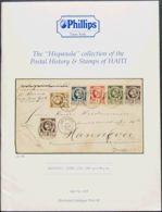 "Haití, Bibliografía. 1987. Catálogo THE ""HISPANOLA"" COLLECTION OF THE POSTAL HISTORY AND STAMPS OF HAITI, Celebrada El 2 - Haití"