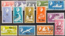 Falkland Georgia Del Sur. MNH **Yv 25/38. 1971. Serie Completa. MAGNIFICA. Yvert 2014: 100 Euros. - Georgias Del Sur (Islas)