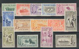 Falkland. MNH **Yv 101/14. 1952. Serie Completa. MAGNIFICA. (SG172/85 180£) Yvert 2014: 160 Euros. - Islas Malvinas