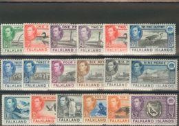 Falkland. MH *Yv 78/89, 90/92. 1937. Serie Completa. MAGNIFICA. (SG146/63 475£) Yvert 2014: 424,5 Euros. - Islas Malvinas