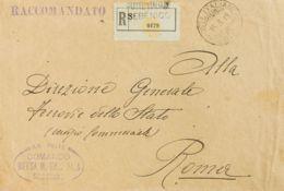 Croacia, Ocupación Italiana. Sobre . 1919. Certificado De SEBENICO A ROMA. Matasello POSTE ITALIANE / SEBENICO Y Marca R - Croacia