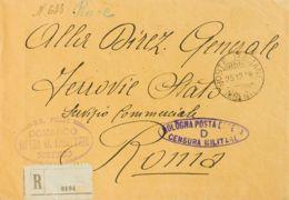 Croacia, Ocupación Italiana. Sobre Yv . 1918. Certificado De SEBENICO A ROMA. Matasello POSTE ITALIANE / SEBENICO Y Marc - Croacia