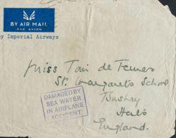 Correo Aéreo Accidentado. Sobre . (1936ca). Dirigida A BUSHEY. En Nuestra Opinión Se Trata Del Vuelo De Imperial Airways - Aviones