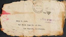 Correo Aéreo Accidentado. Sobre . 1930. Franqueada Con Sellos Pero Desprendidos En El Accidente. NUEVA YORK A LOS ANGELE - Aviones