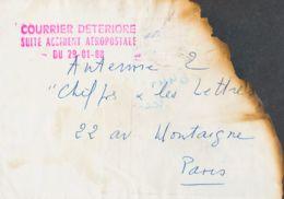 Correo Aéreo Accidentado. Sobre Yv . 1988. Correo Aéreo De EAUX BONNES A PARIS. Avión De La Compañía Aeropostale Que Cub - Aviones