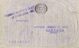 Correo Aéreo Accidentado. Sobre . 1935. Correo Aéreo De MONTEVIDEO A ROUBAIX (FRANCIA). Avión De La Línea CHILE-FRANCIA - Aviones