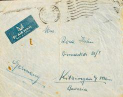 Correo Aéreo Accidentado. Sobre Yv . 1936. Correo Aéreo De JERUSALEN A KITZINGEN (ALEMANIA). Avión De La Línea ORIENTE-G - Aviones