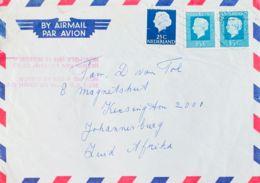 Correo Aéreo Accidentado. Sobre Yv 603, 945. 1974. 25 Cts Azul Oscuro Y 35 Cts Azul Verde, Dos Sellos. Correo Aéreo De R - Aviones