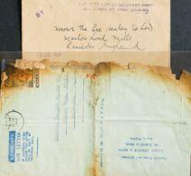 Correo Aéreo Accidentado. Sobre Yv 82. 1956. 6 P Negro Y Castaño. Correo Aéreo De LAGOS A LEICESTER (INGLATERRA). Avión - Aviones