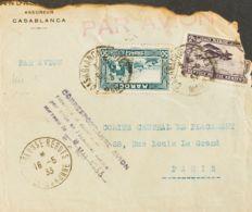 Correo Aéreo Accidentado. Sobre Yv 139, Aéreo 10. 1933. 50 Cts Azul Verde Y 2 Fr Violeta. Correo Aéreo Accidentado De CA - Aviones