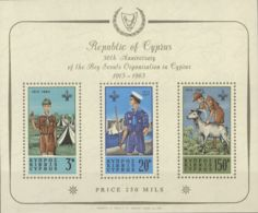 Chipre, Hoja Bloque. MNH **Yv 1. 1963. Hoja Bloque. MAGNIFICA. Yvert 2012: 225 Euros. - Chipre