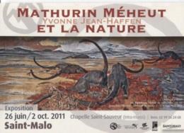 CPM - Mathurin MEHEUT - Yvonne JEAN-HAFFEN - EXPO ST MALO 2011 .... LA NATURE - Edition PUB - Meheut