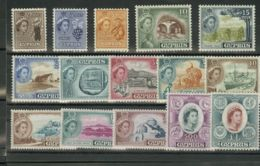 Chipre. MNH **Yv 156/70. 1955. Serie Completa. MAGNIFICA. Yvert 2012: 115 Euros. - Chipre
