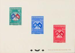 Camboya. (*)Yv 63/65. 1957. Serie Completa. PRUEBA DE LUJO COLECTIVA (Carnet UPU Otawa, Tirada De Veinticinco). MAGNIFIC - Sellos