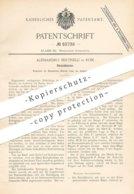 Original Patent - Alessandro Bertinelli , Rom , Italien , 1894 ,  Streichklavier | Klavier , Piano , Orgel , Musik !! - Historische Dokumente