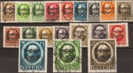 Baviera. ºYv 152/70A. 1919. Serie Completa. MAGNIFICA. (Mi152/70A 250 Euros) - Sellos