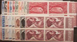 Africa Ecuatorial Francesa. MNH **Yv 208/26(4). 1947. Serie Completa, Bloque De Cuatro, Borde De Hoja. SIN DENTAR. MAGNI - A.E.F. (1936-1958)