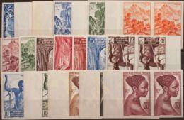 Africa Ecuatorial Francesa. MNH **Yv 208/26. 1947. Serie Completa, Pareja, Borde De Hoja. SIN DENTAR. MAGNIFICA. Yvert 2 - Sin Clasificación