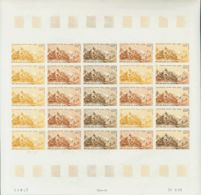 Níger, Aéreo. MNH **Yv 116(25). 1969. 100 F Multicolor, Hoja Completa De Veinticinco Sellos. ENSAYOS DE COLOR Y SIN DENT - Níger (1960-...)