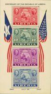 Liberia, Hoja Bloque. MH *Yv 1. 1947. Hoja Bloque. MAGNIFICA. Yvert 2013: 200 Euros. - Liberia