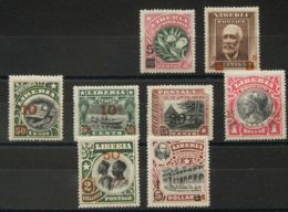 Liberia. MH *Yv 119/26. 1916. Serie Completa, A Falta De Los Dos Primeros Valores. MAGNIFICA. Edifil 2018: 188 Euros. - Liberia