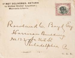 Liberia. Sobre Yv 43. 1900. 5 Ctvos Carmín Y Negro. MONROVIA A PHILADELPHIA (U.S.A.). Al Dorso Llegada. MAGNIFICA. - Liberia
