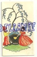Mignonnette Double. Bebe Et Couple (lutins ?). Pierre Vandeschrick. Baptisé à Ferrières 1947. Coloprint 10151/1 - Naissance