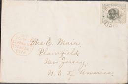 Liberia. Sobre Yv 53. 1902. 5 Ctvos Gris Y Negro. HARPER A PLAINFIELD (U.S.A.). Matasello HARPER / LIBERIA Y En El Frent - Liberia