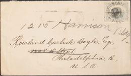 Liberia. Sobre Yv 53. 1901. 5 Ctvos Gris Azulado Y Negro. MONROVIA A PHILADELPHIA (U.S.A.). Matasello MONROVIA / LIBERIA - Liberia