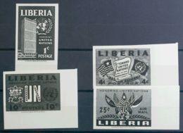 Liberia. MNH **Yv 315/17s, A66s. 1953. Serie Completa. ENSAYOS DE COLOR SIN DENTAR, En Negro. MAGNIFICA. - Liberia