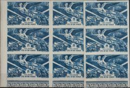 Costa De Somalia, Aéreo. MNH **Yv 13(9). 1946. 8 F Azul, Nueve Sellos. SIN DENTAR. MAGNIFICOS. Yvert 2013: 169 Euros. - Somalia (1960-...)