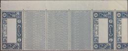 Costa De Somalia. MNH **Yv 168a(2). 1938. 10 F Azul, Pareja Con Interpanel Triple (y Parte De Otro Sello). CENTRO OMITID - Somalia (1960-...)