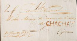 Perú, Prefilatelia. Sobre Yv . (1821ca). CHACHAPOYAS A CAJAMARCA. Marca CHACHAPS. (P.E.2) Edición 2004 (sin Fechar, No P - Perú
