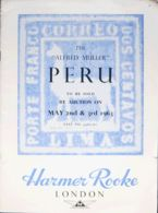 """Perú, Bibliografía. 1963. THE """"ALFRED MULLER"""" COLLECTION FROM PERU, TO BE SOLD BY AUCTION ON MAY 2ND AND 3RD 1963. Harme - Sellos"""